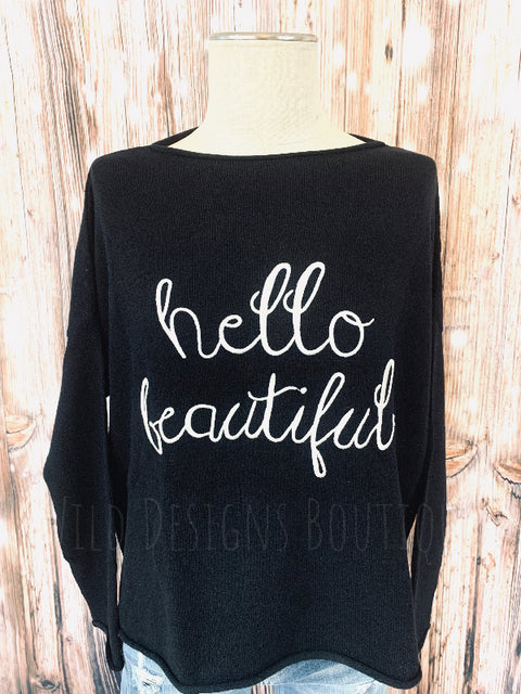 Hello Beautiful Hi Lo Sweater