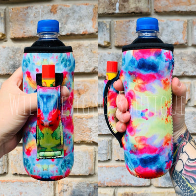 Tie Dye Water Bottle Pocket Handler