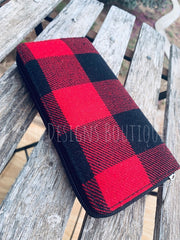 Wallet Red Buffalo Plaid