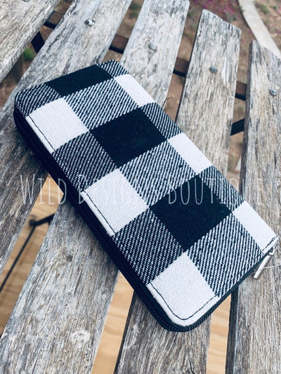Wallet Black Buffalo Plaid