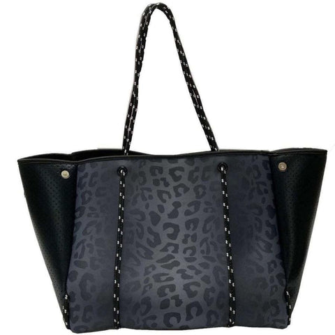 Black Leopard Neoprene Bag