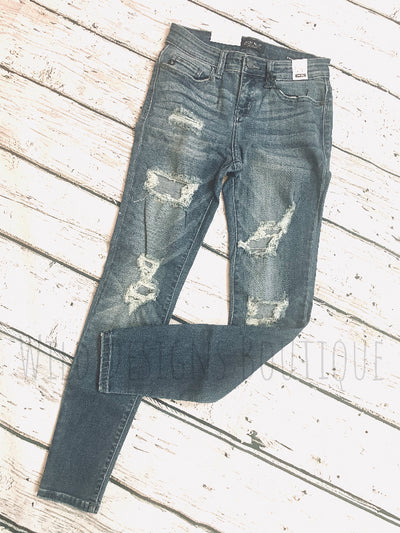 Destroyed Skinny Jeans 82108