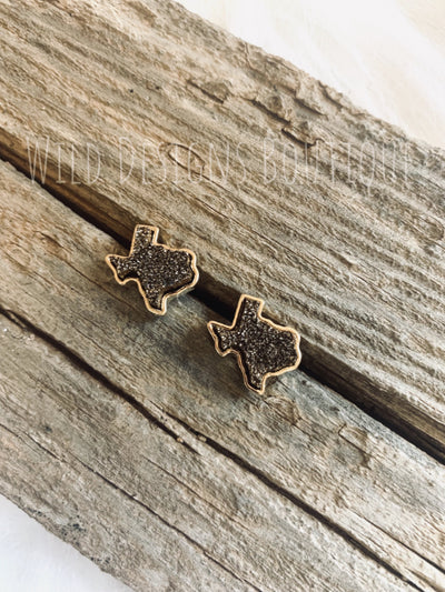 Druzy Texas Earring Gold/Bronze