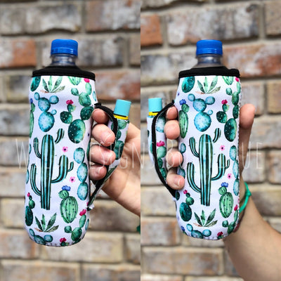 Succulents Water Bottle Pocket Handler