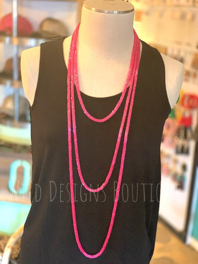 Loopty Loo Necklace Hot Pink