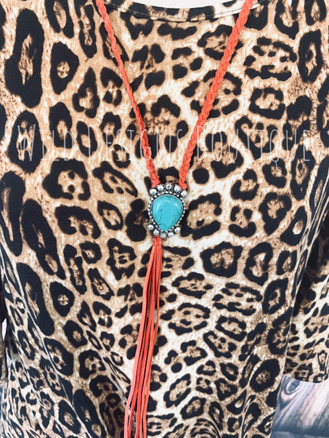 Bandera Bolo Red/Turquoise