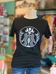 Dead Without Coffee Tee