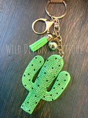 Cactus Bling Keychain