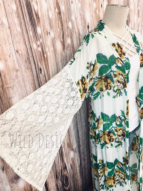 Golden Girl Floral Duster