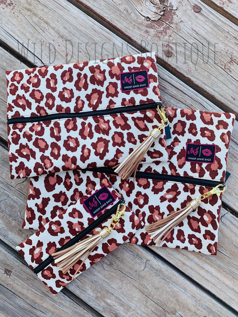 Makeup Junkie Bags Red Cheetah