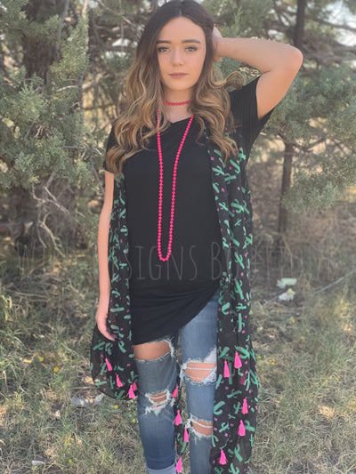 Sweeter Than a Prickly Pear Tassel Vest