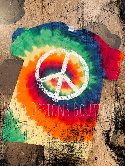Peace Sign Tie Dye Tee