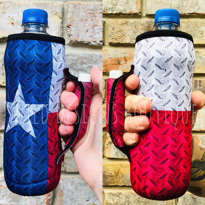 Texas Flag Water Bottle Pocket Handler