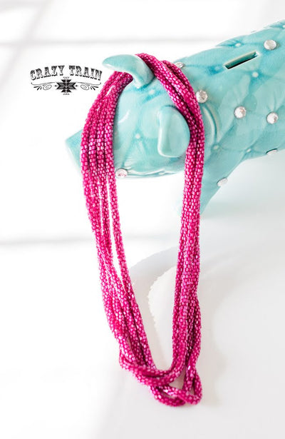 Loopty Loo Necklace Magenta
