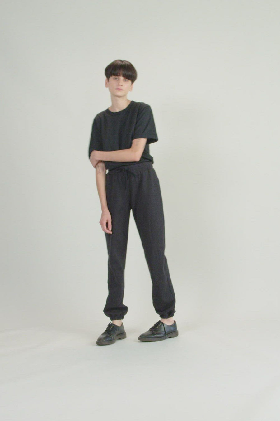 Recycled Terry Women's Sweatpant | Faded Black