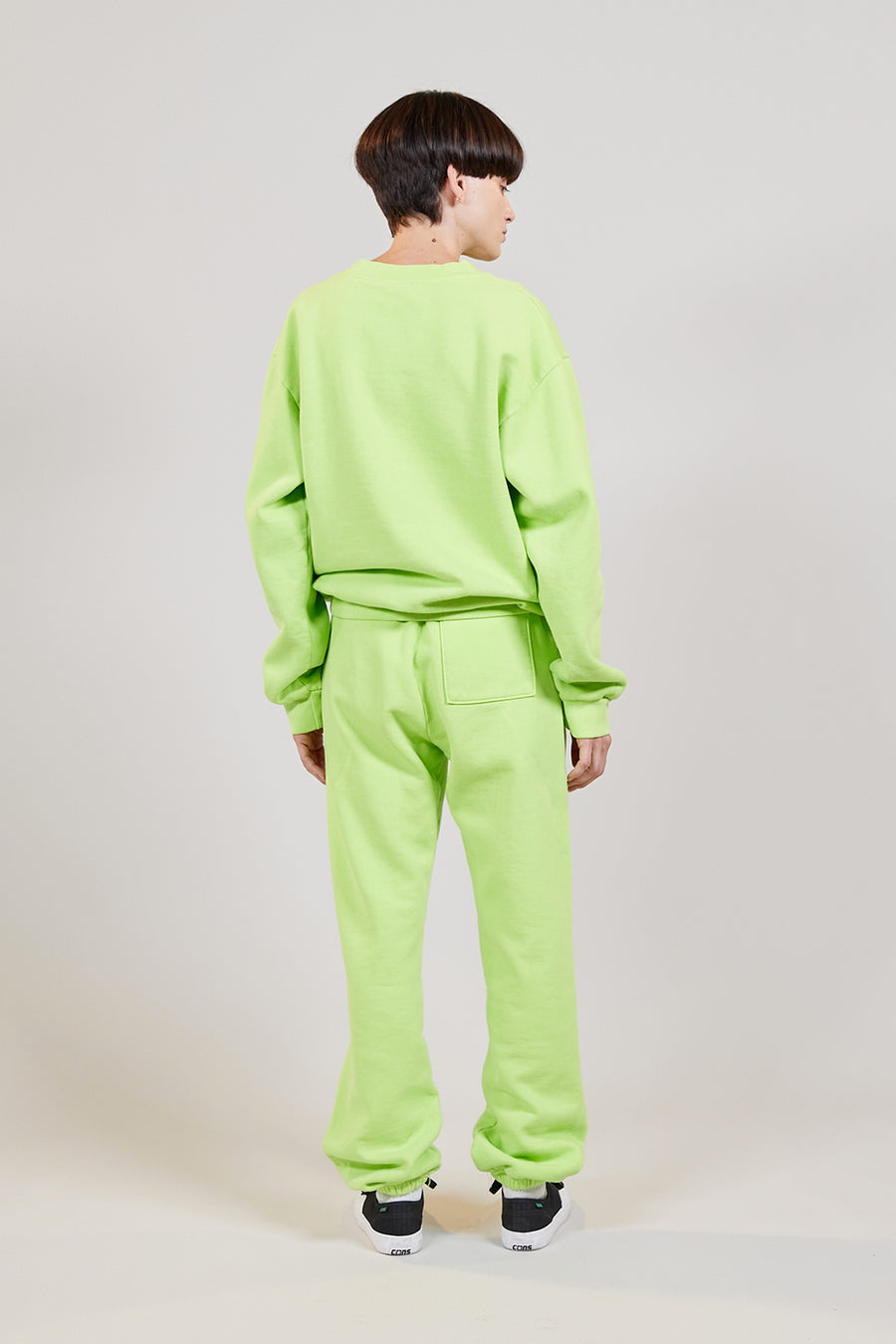 Organic Fleece Crewneck | Lime