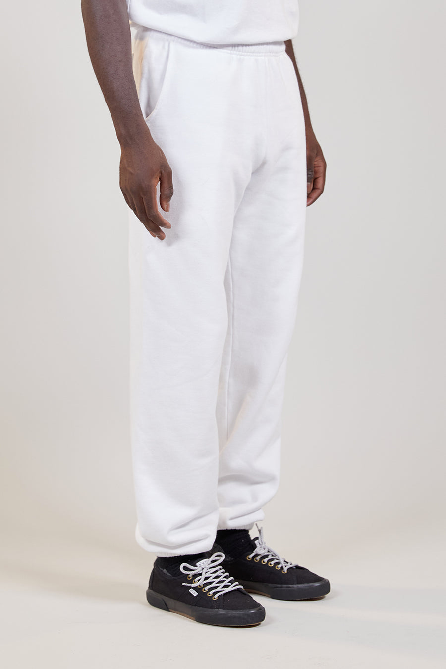 Organic Fleece Pant | White