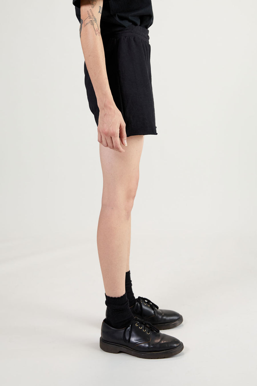 Recycled Terry Women's Short | Faded Black