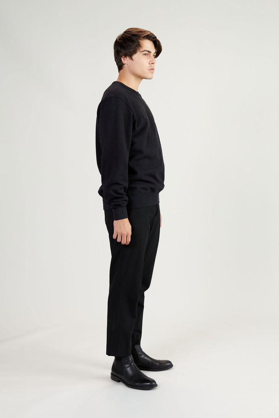 Recycled Terry Crewneck | Faded Black