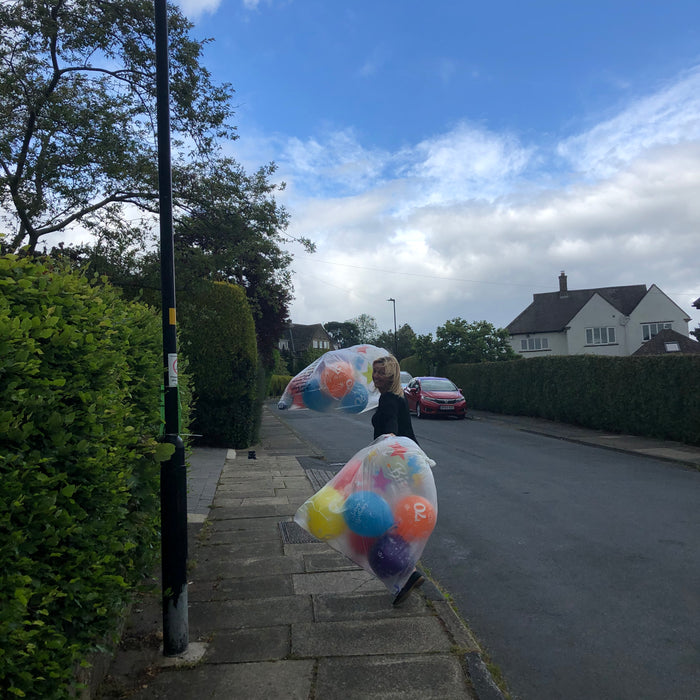 Delivering Balloons in Harrogate