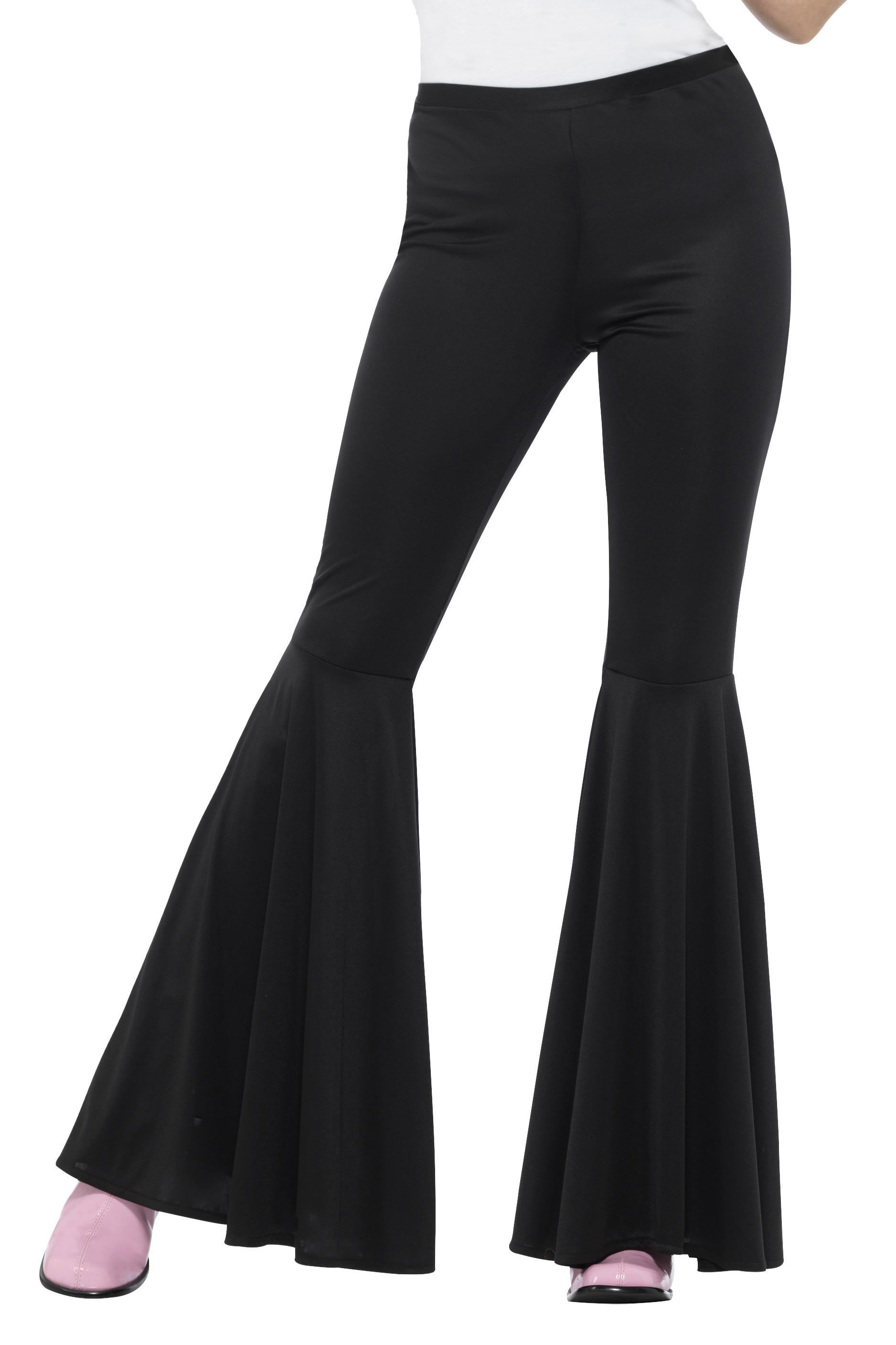 Lady's Black Flared Trousers - PartyFeverLtd