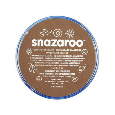 Snazaroo Beige Brown Face Paint - PartyFeverLtd