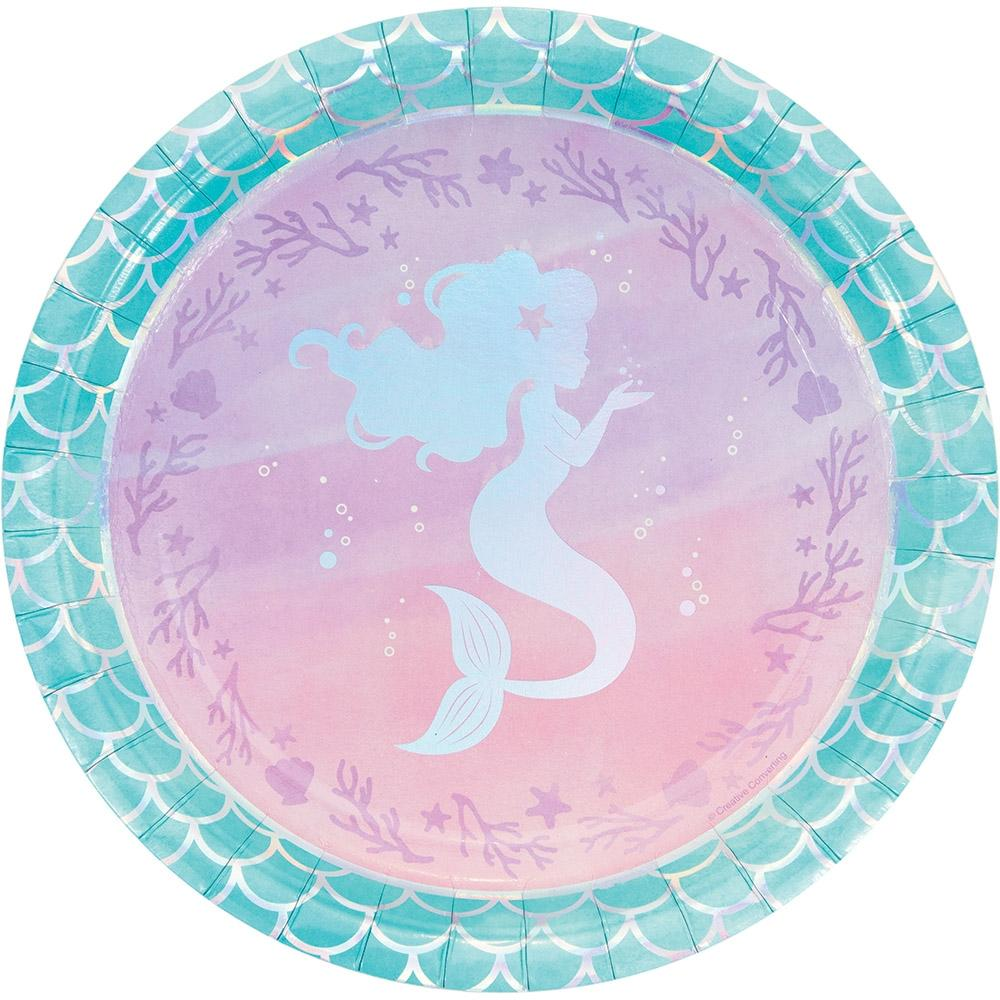 Mermaid Shine Plates - PartyFeverLtd