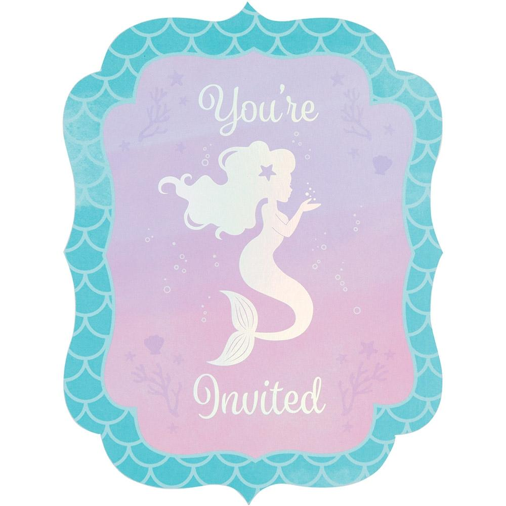 Mermaid Shine Invitations - PartyFeverLtd