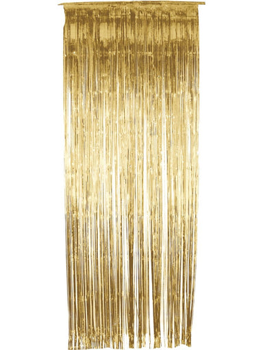 Gold Foil Door Curtain - PartyFeverLtd