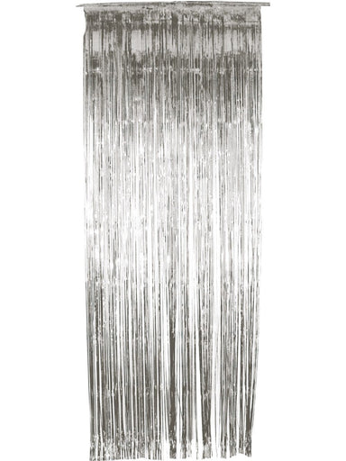 Silver Door Curtain - PartyFeverLtd