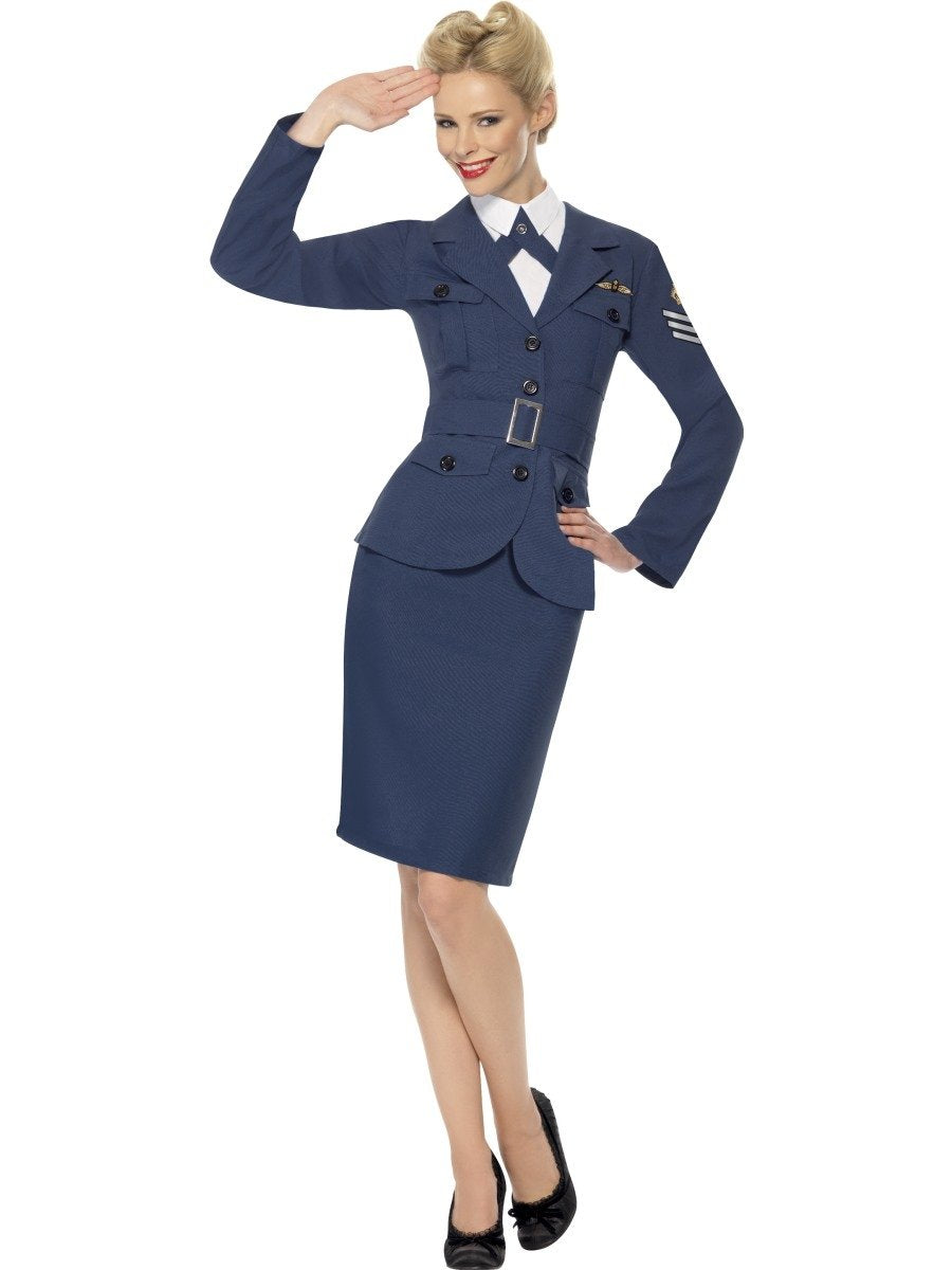 WW2 Lady Air Force Captain Costume - PartyFeverLtd