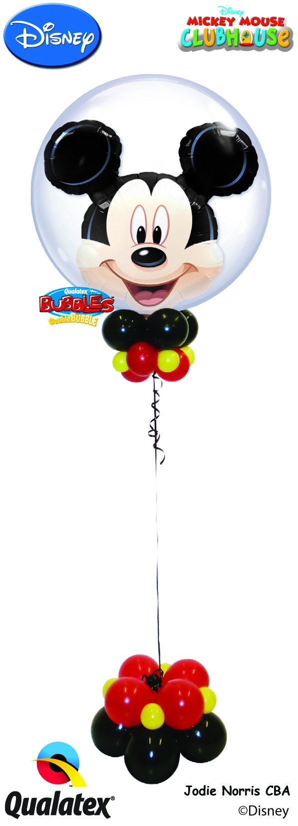 Mickey Mouse Classic Bubble Bouquet - PartyFeverLtd