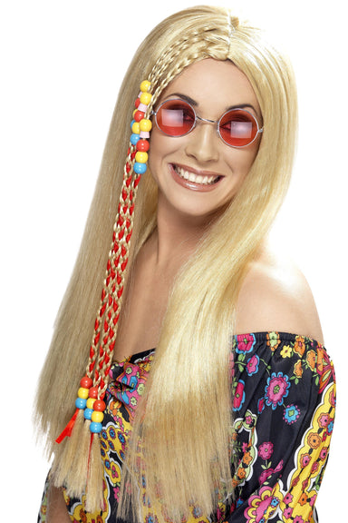 Blonde Hippy Party Wig - PartyFeverLtd