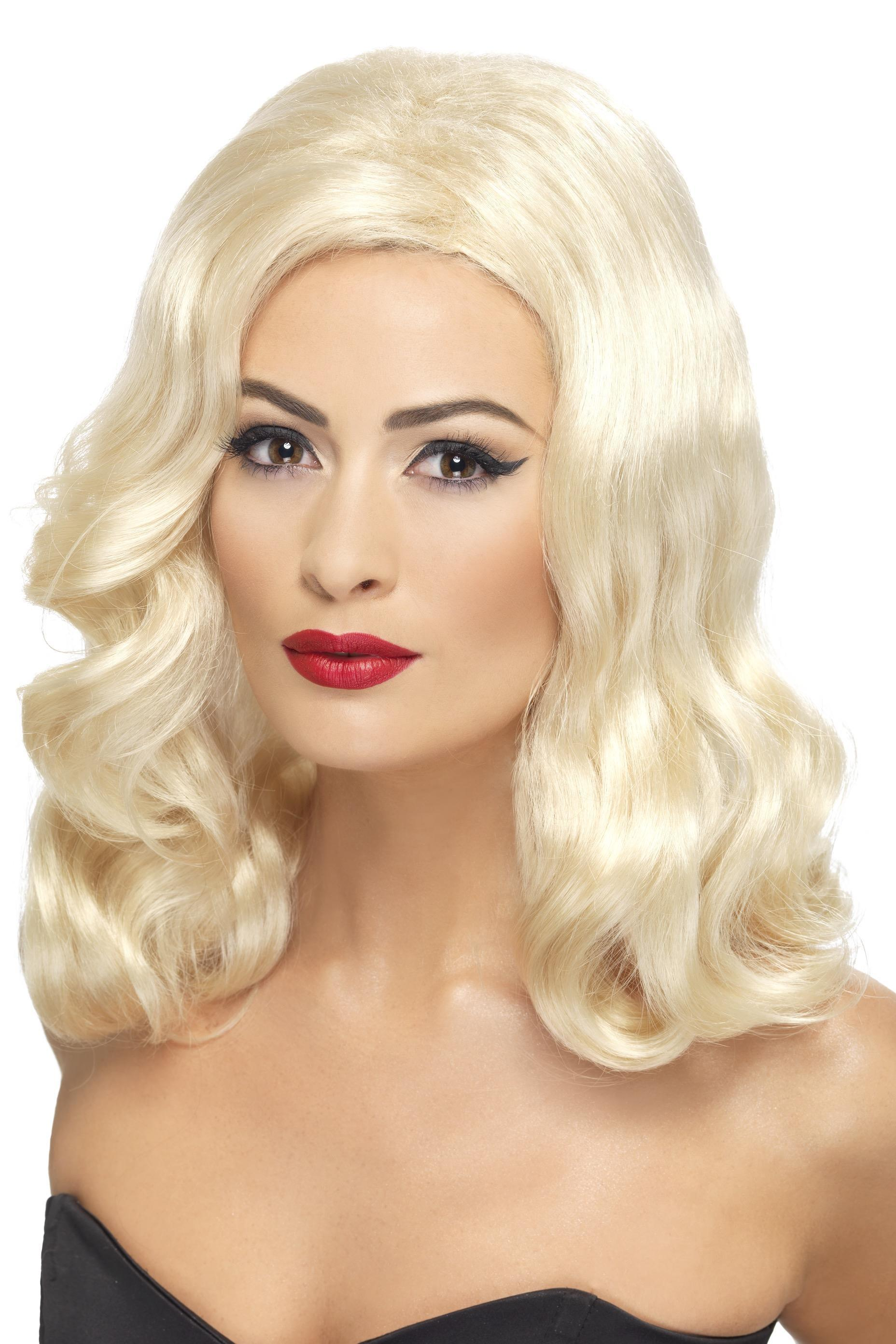1920's Luscious Long Blonde Wig - PartyFeverLtd