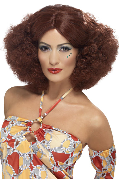 Auburn Parted 70s Afro Wig - PartyFeverLtd