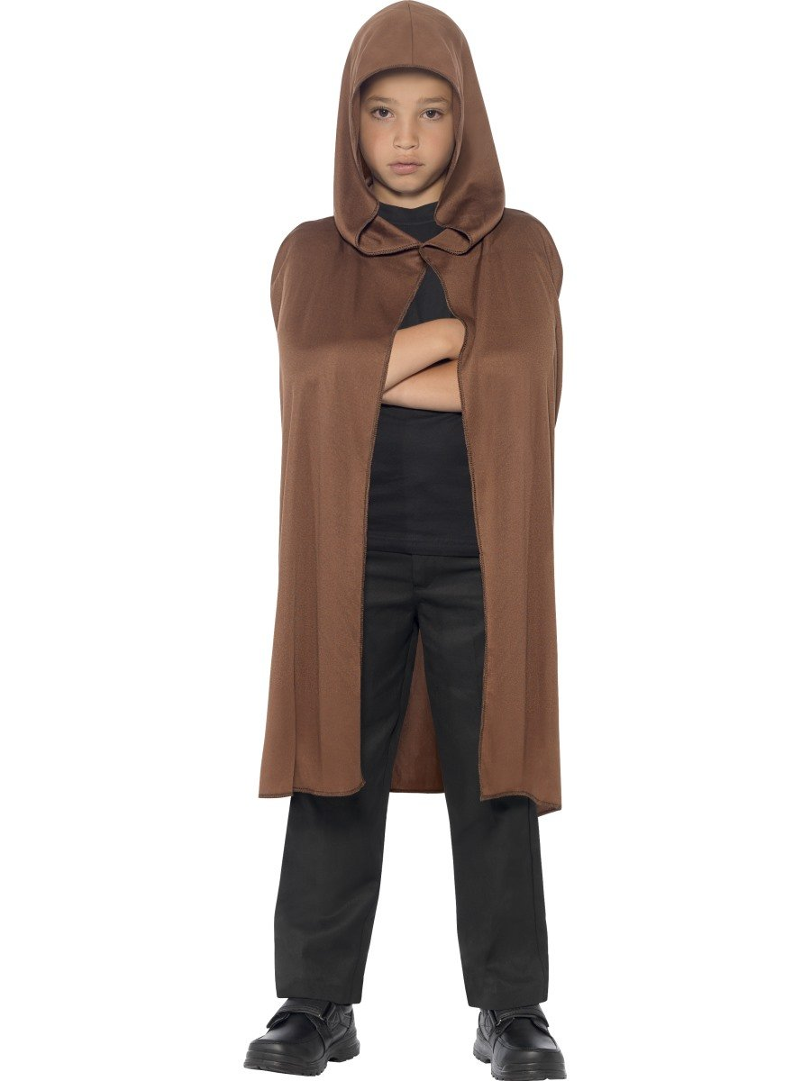 Brown Hooded Cape - PartyFeverLtd