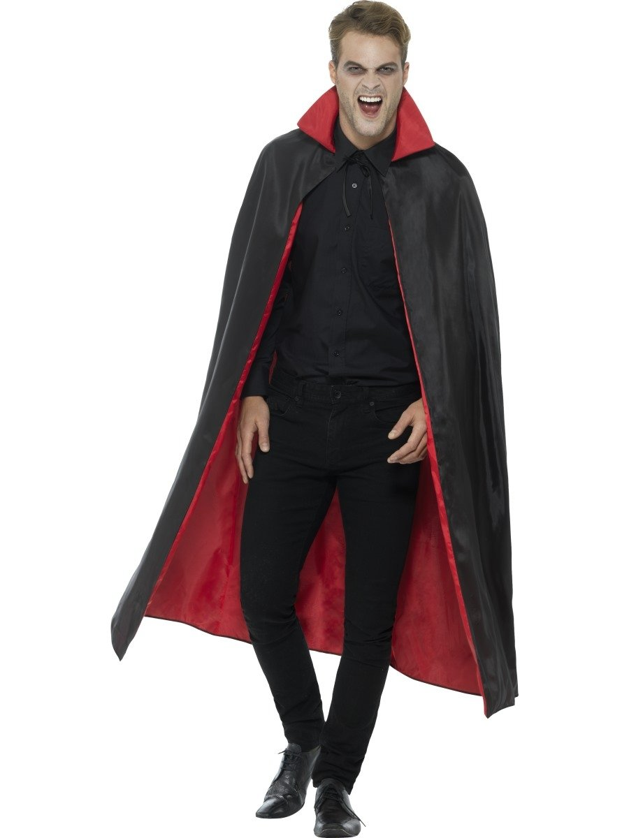 Reversible Vampire Cape Red & Black - PartyFeverLtd