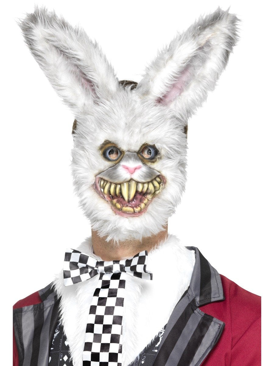 Evil White Rabbit Mask - PartyFeverLtd
