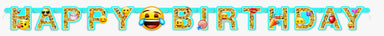 Emoji Happy Birthday Banner - PartyFeverLtd