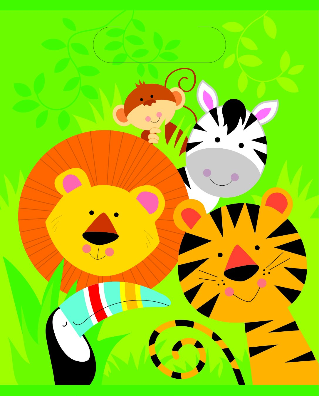Animal Jungle Party Bags - PartyFeverLtd