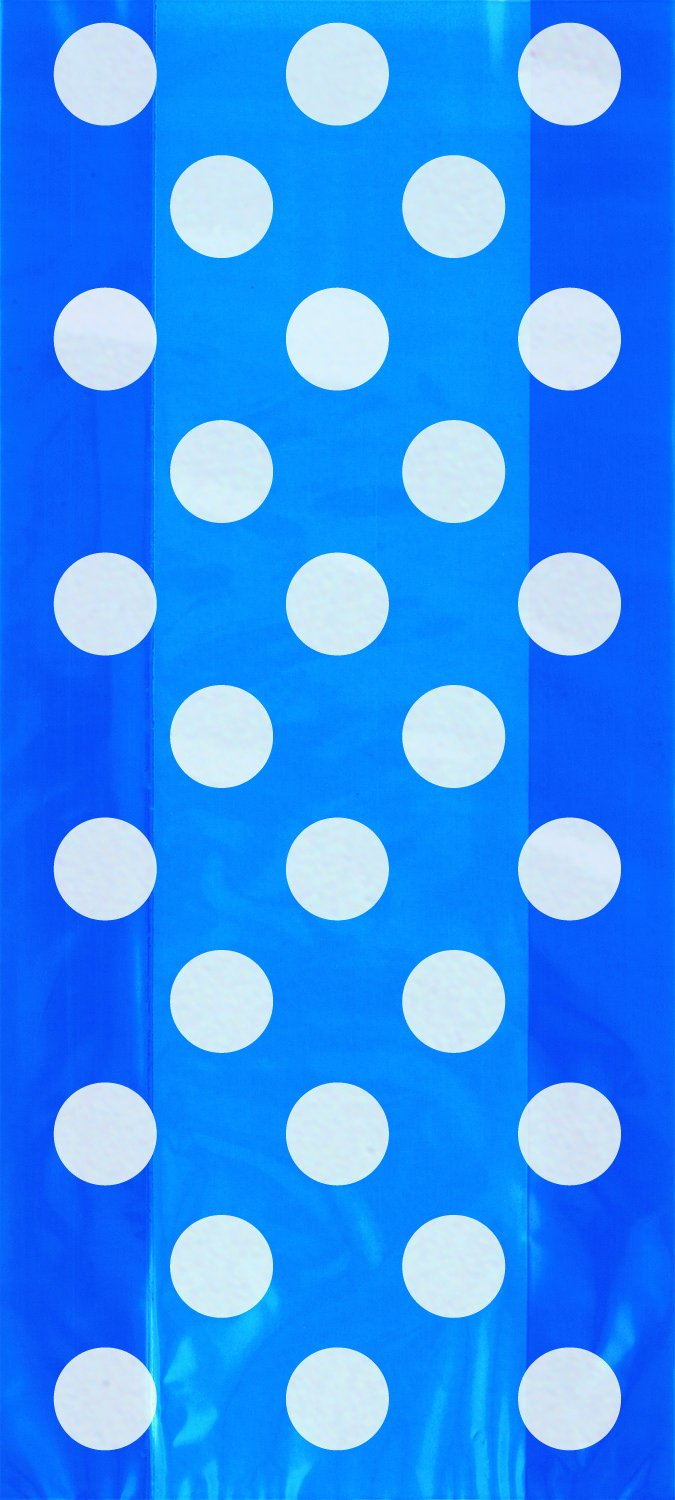 Blue Spot Cello Bags pk20 - PartyFeverLtd
