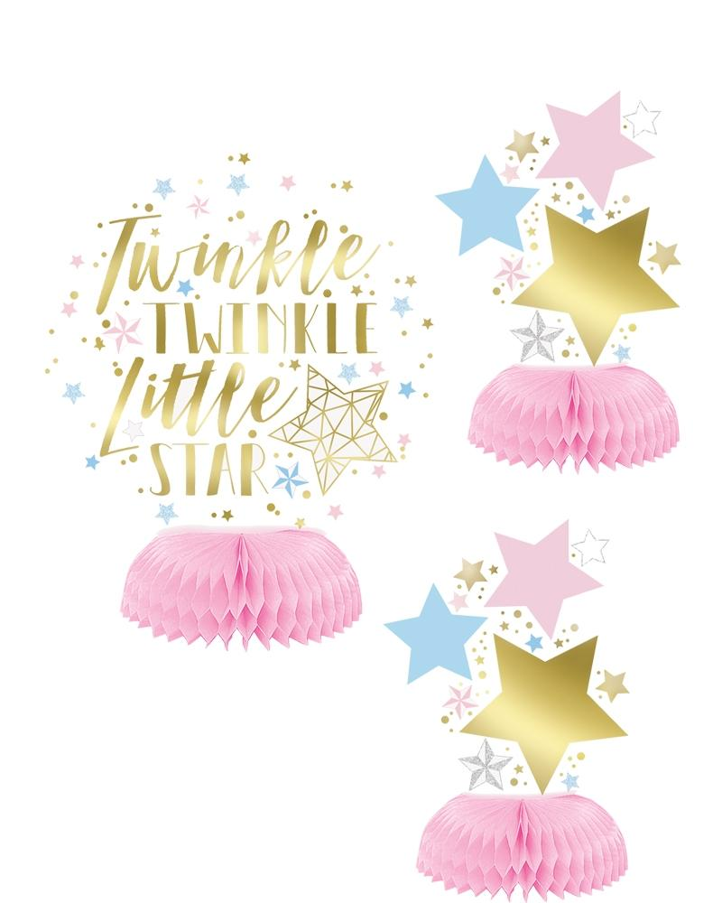 Twinkle Twinkle Honeycomb Decorations - PartyFeverLtd