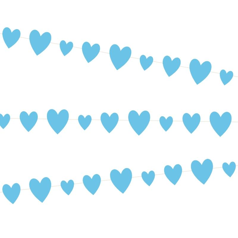 Blue Heart Baby Shower Garland - PartyFeverLtd