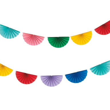 Scalloped Fan Garland, Multi - PartyFeverLtd