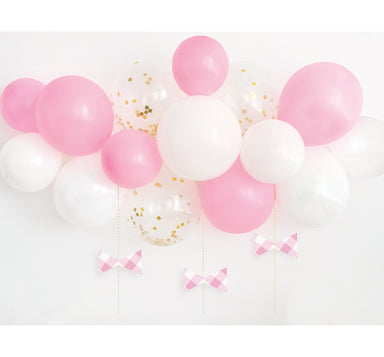 DIY Pink Gingham Balloon Swag Kit - PartyFeverLtd