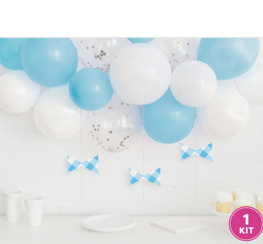 DIY Blue Gingham Balloon Swag Kit - PartyFeverLtd