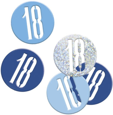 Glitz Blue 18th Birthday Confetti - PartyFeverLtd