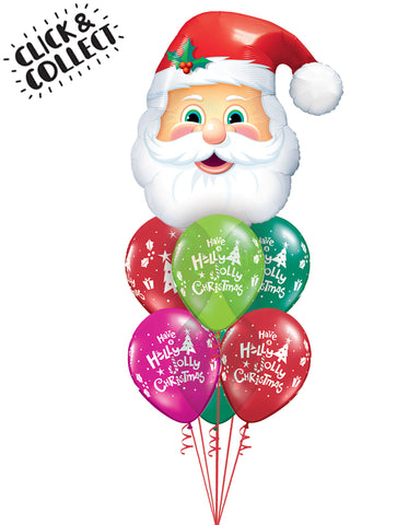 Fab Jolly Santa Balloon Bouquet - PartyFeverLtd