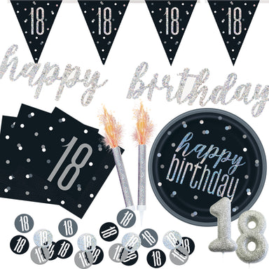 Black Glitz Party Pack - PartyFeverLtd