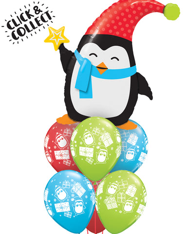 Fab Christmas Penguin Balloon Bouquet - PartyFeverLtd